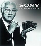 Akio Morita with Camera