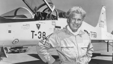 Jackie Cochran with Aircraft